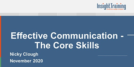 Effective Communication - The Core Skills tickets