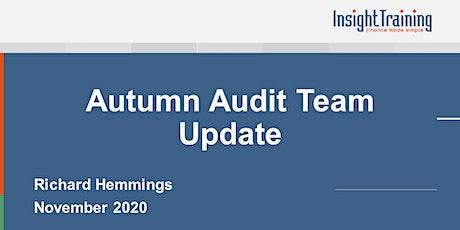Autumn Audit Team Update tickets