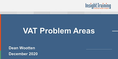 VAT Problem Areas tickets