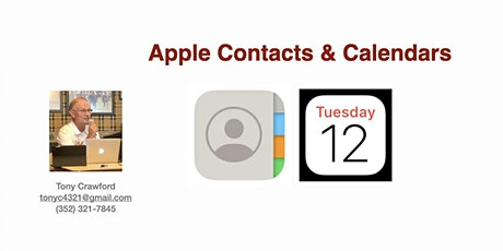 Apple Contacts & Calendars tickets