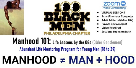 MANHOOD 101: Abundant Life Mentoring Program for Young Men (18 to 29) tickets