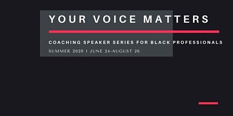Your Voice Matters Speaker Series KickOff tickets