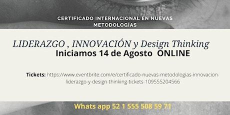 Certificado  Nuevas Metodologías , Innovación, Liderazgo y Design Thinking entradas