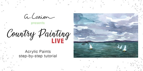 Country Painting LIVE - Acrylic Painting Tutorial  - Sailing in Scotland biglietti