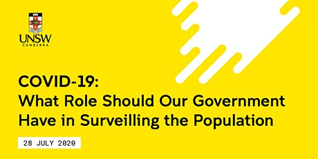 COVID19: What Role Should Our Government Have in Surveilling the Population tickets