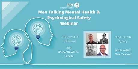 VICTAS SIRF Webinar| Men talking Mental Health & Psychological Safety tickets