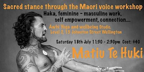 Sacred Stance - Maori haka workshop tickets