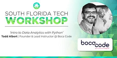 WORKSHOP | 'Intro to Data Analytics with Python' (Boca Code) tickets