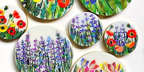 Wildflower theme Alcohol ink+collage workshop (LEVEL 2) tickets