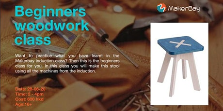 Woodwork Beginner Class (Flat Pack Stool) tickets