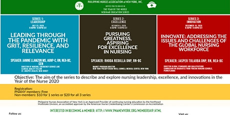 Philippine Nurses Association of NY- the Year of the Nurse Education Series tickets