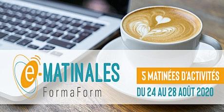 """[E-Matinales] Atelier """"Un récit pour demain"""" billets"""