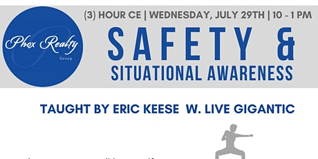 Safety & Situational Awareness - (3) Hour CE Class tickets