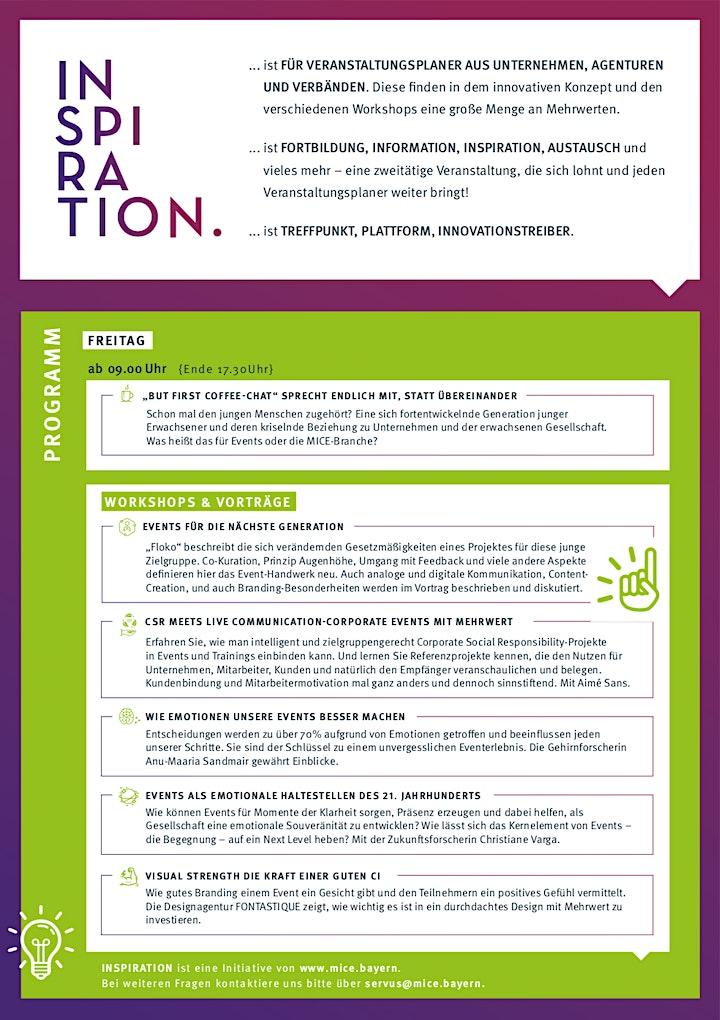 INSPIRATION - Ideen & Informationen für die Eventbranche der Zukunft: Bild