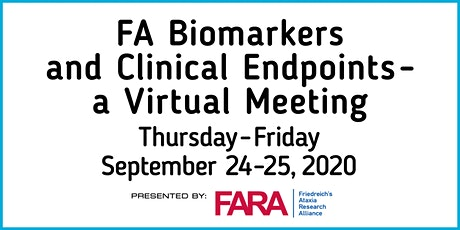 FA Biomarker and Clinical Endpoints Meeting 2020 tickets