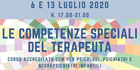 Le competenze speciali del terapeuta biglietti