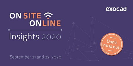 exocad Insights 2020 - on site and online tickets