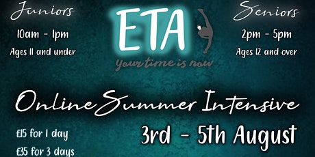 ETA Online Summer Intensive tickets