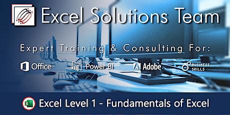 Excel Level 1 - Fundamentals of Excel (1-Day) ingressos