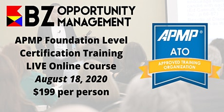 APMP Foundation Level Certification Online Course tickets