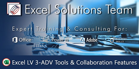 Excel Level 3 - Advanced Tools & Collaboration Features (1-Day Webinar) tickets