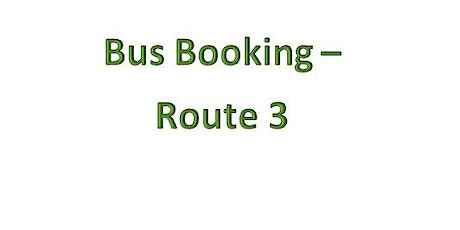 Bus Bookings - Route 3- Port Tennant tickets