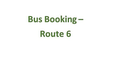 Bus Bookings - Route 6 - Brynamman tickets