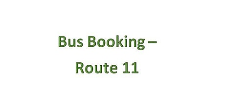 Bus Bookings - Route 11 - Swansea Valley tickets