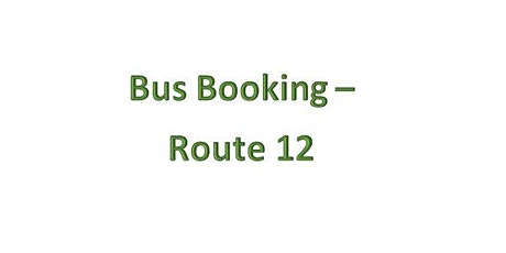Bus Bookings - Route 12 - Bryncoch tickets
