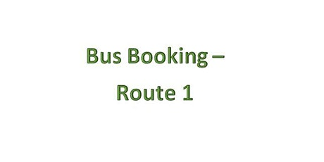 Bus Bookings - Route 1 - Llanelli tickets