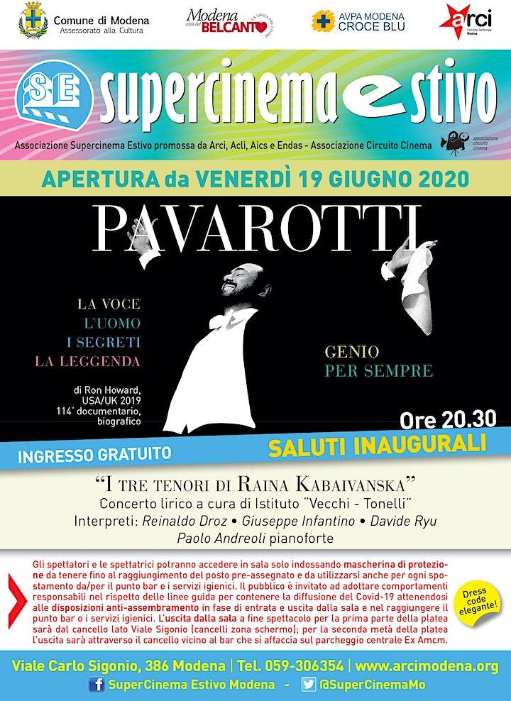 Immagine Supercinema Estivo Modena Serata Inaugurale