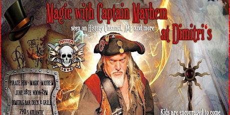 Magic with Captain Mayhem at Dimitris tickets