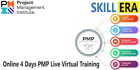 Online 4 Days PMP Live Virtual Training® in Moreno Valley, CA | SkillERA tickets