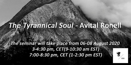 The Tyrannical Soul: From Plato to Kafka & the Film Strip - Avital Ronell tickets