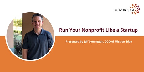 Run Your Nonprofit Like a Startup tickets