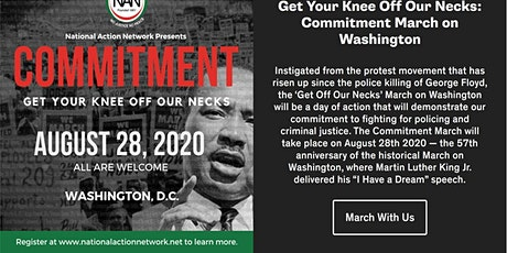 March on Washington 2020 tickets