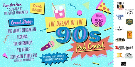 Dream of the Nineties Pub Crawl 2020 Postponed Event* tickets