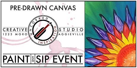 Paint & Sip | Rainbow Flower tickets