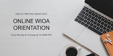 Online WIOA Orientation (English) tickets