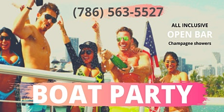 LUXURY BOAT PARTY in Miami Beach! tickets