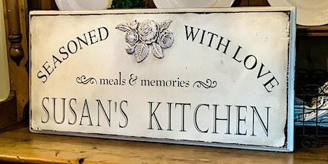 Personalized Kitchen Sign Workshop tickets
