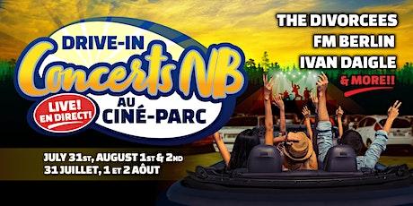 Drive-In Concerts NB au Ciné-Parc: Live En Direct tickets