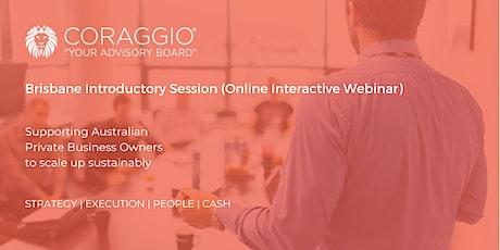 Coraggio Online Interactive Webinar, Brisbane tickets