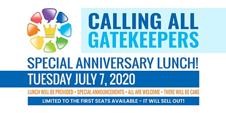 Gatekeepers SRQ Anniversary Lunch - Christian Business Networking 7/7/2020 tickets