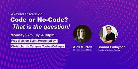 Code or No-code? That is the question! tickets