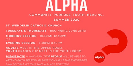 Youth Alpha - Summer 2020 tickets