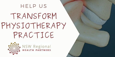 Physiotherapy Network Needs Analysis Focus Group 4 tickets