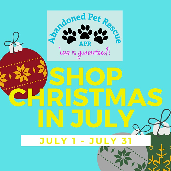 Abandoned Pet Rescue Christmas in July Kickoff Zoom Party! image