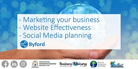 Marketing your Business I Website Effectiveness I Social Media Planning tickets