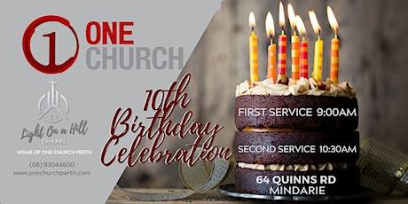 One Church Perth 10th Birthday Celebration tickets